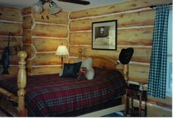 Faux Log Cabin