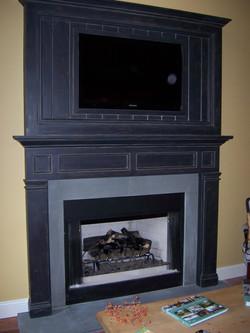 Crackled Fireplace