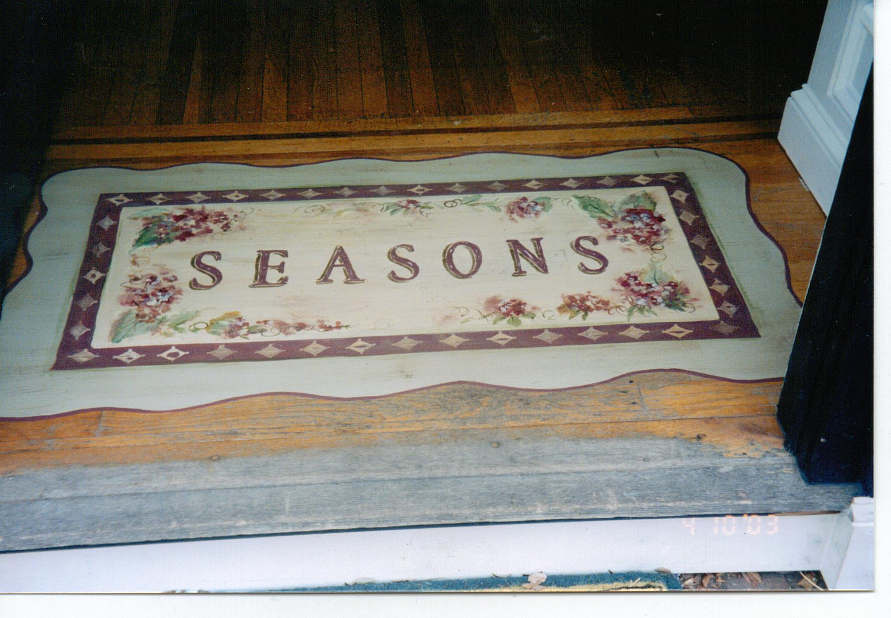 Painted Doormat on Wood