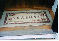 Painted Doormat on Wood