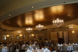 Faux Gilded Gold Ceiling