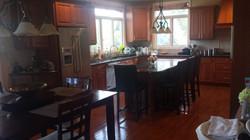 Before: All Wood Dark Kitchen