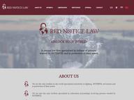 Юридический сайт Red Notice Law на 4-ех языках