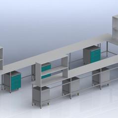 stół przyścienny U-kształtny 7000_2600_5