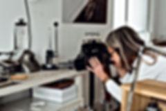 Michaela Römer taking photos goldsmith wokrshop work love engagement wedding rings goldsmithery