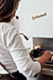 Michela Römer melting gold piece of gold wedding engagement rings goldsmith shopfloor