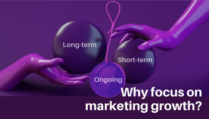 Why focus on marketing growth ? Long-term or short-term or ongoing?