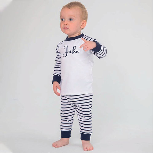 Toddlers striped pjs