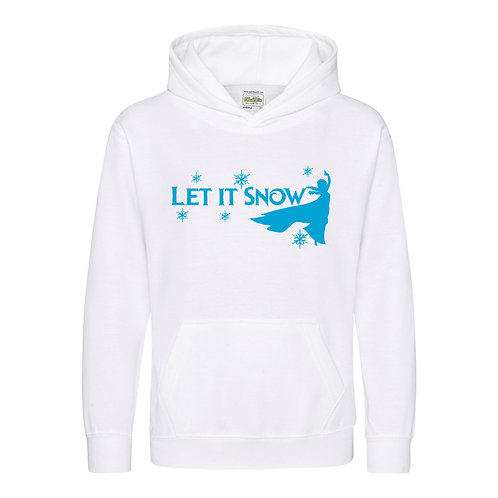let it snow frozen kids hoody