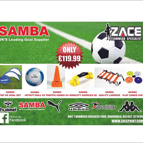 ZACE SOCCER KIDS SAMBA TRAINING PACK INCLUDING GOALS