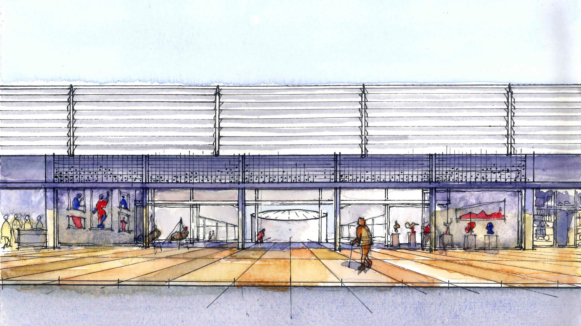 Galeria Comercial Atelier Centro Cultural - YVA Arquitetura
