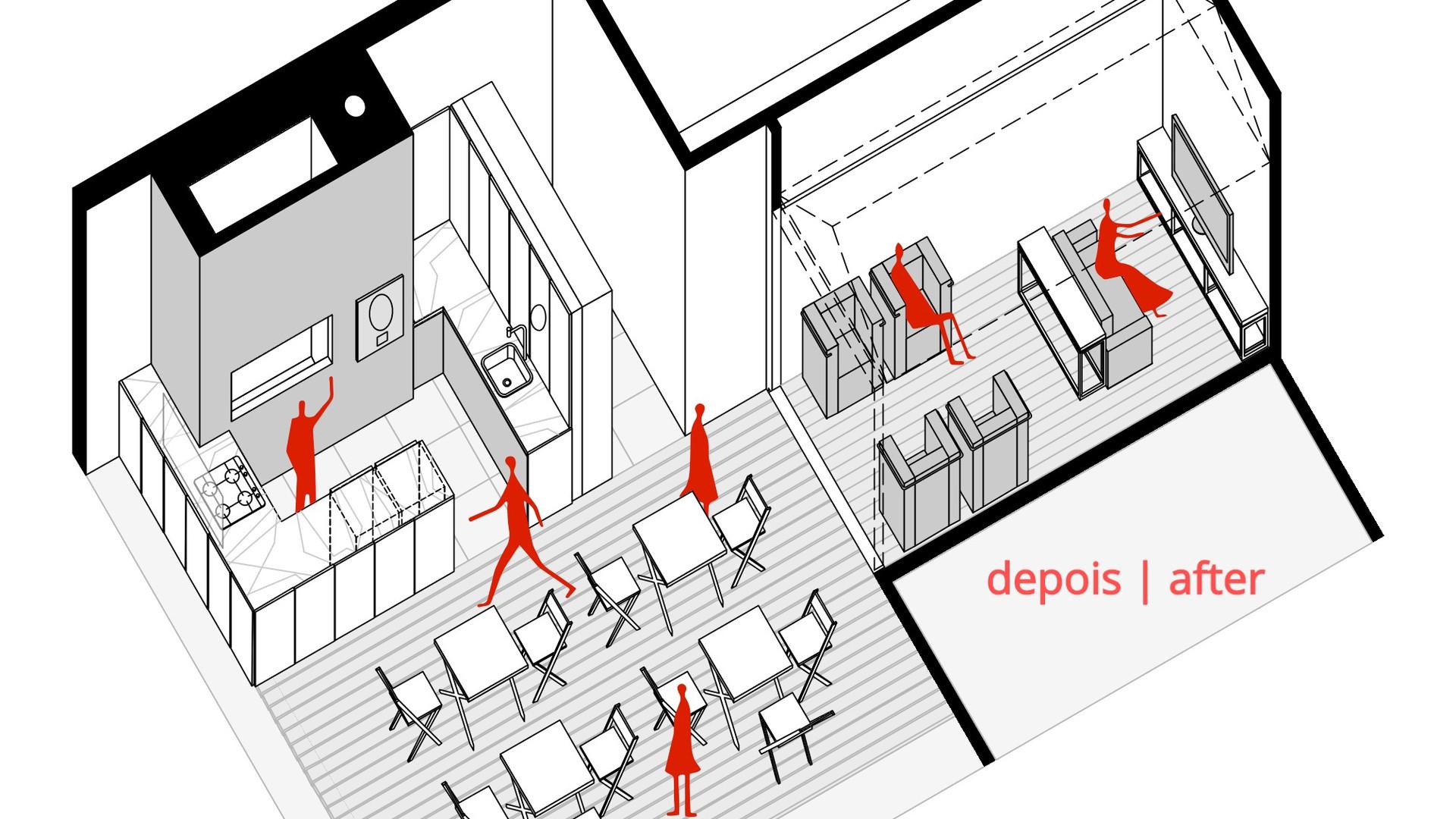 Espaço Descompressão - YVA Arquitetura depois