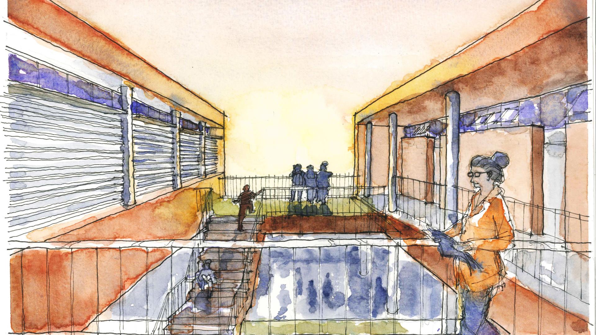 Entre_salas_Escola Crixá Distrito Federal - YVA Arquitetura