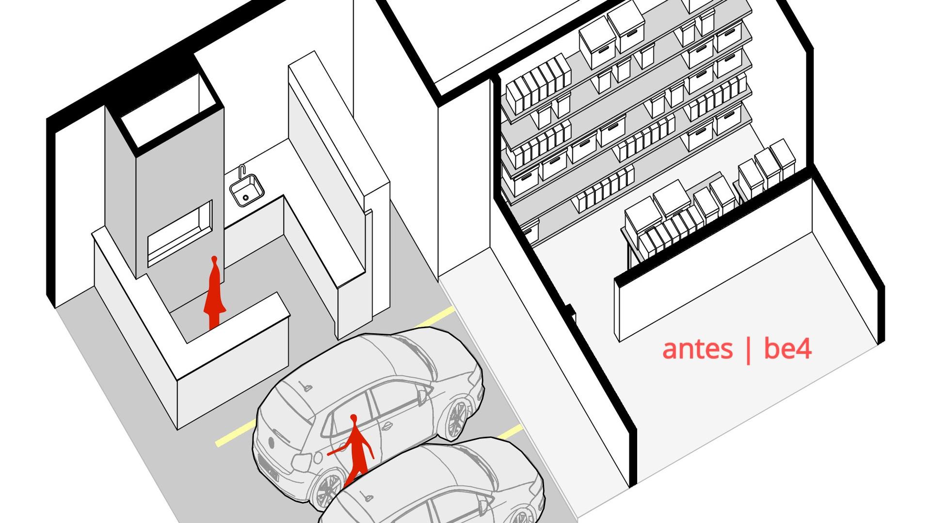 Espaço Descompressão - YVA Arquitetura antes