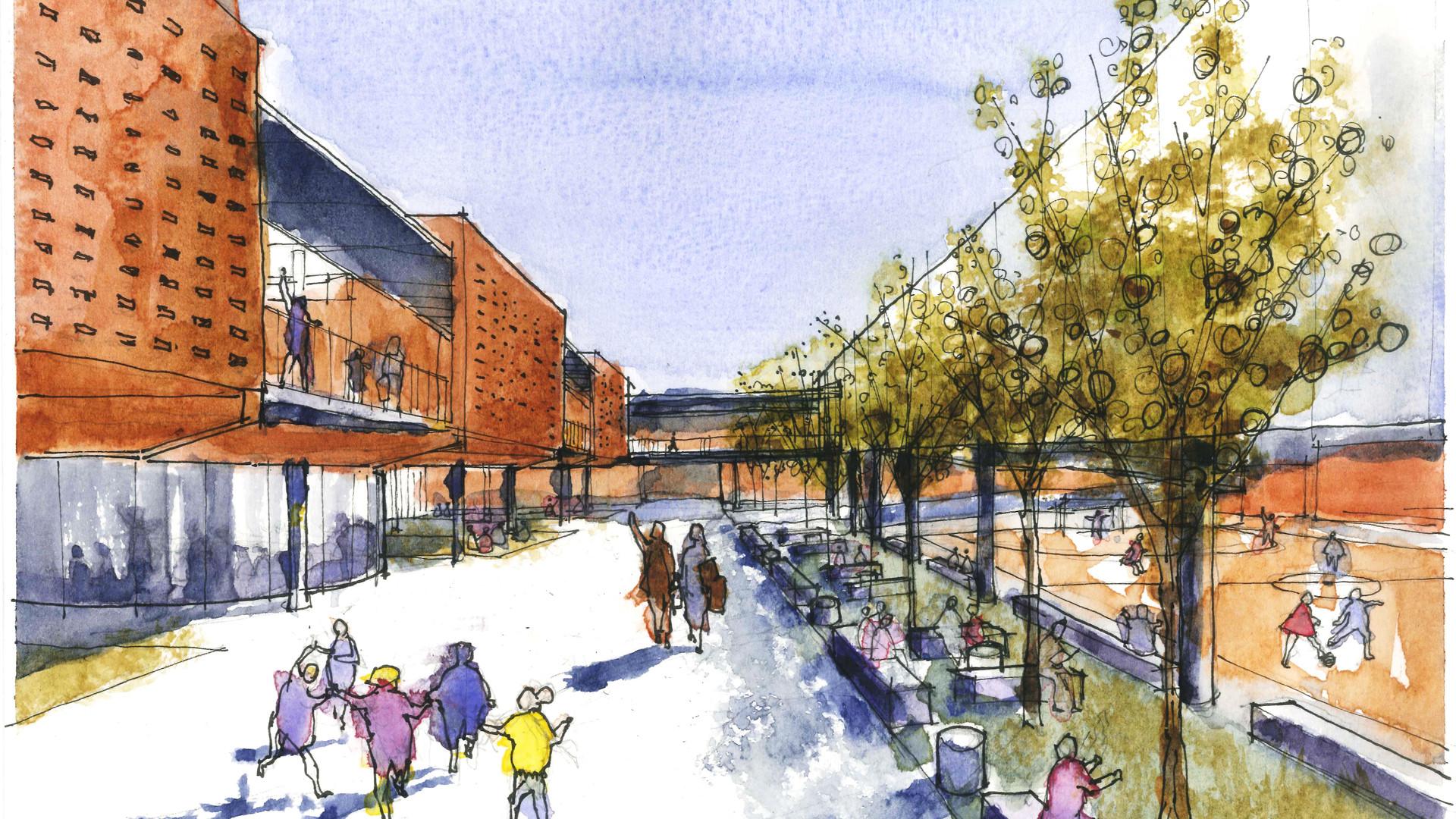 Alameda-boulevard_Escola Crixá Distrito Federal - YVA Arquitetura