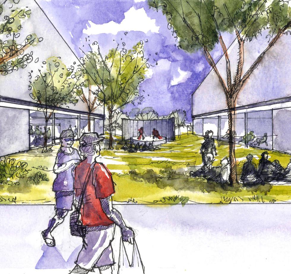 Calçadão Atelier Centro Cultural - YVA Arquitetura
