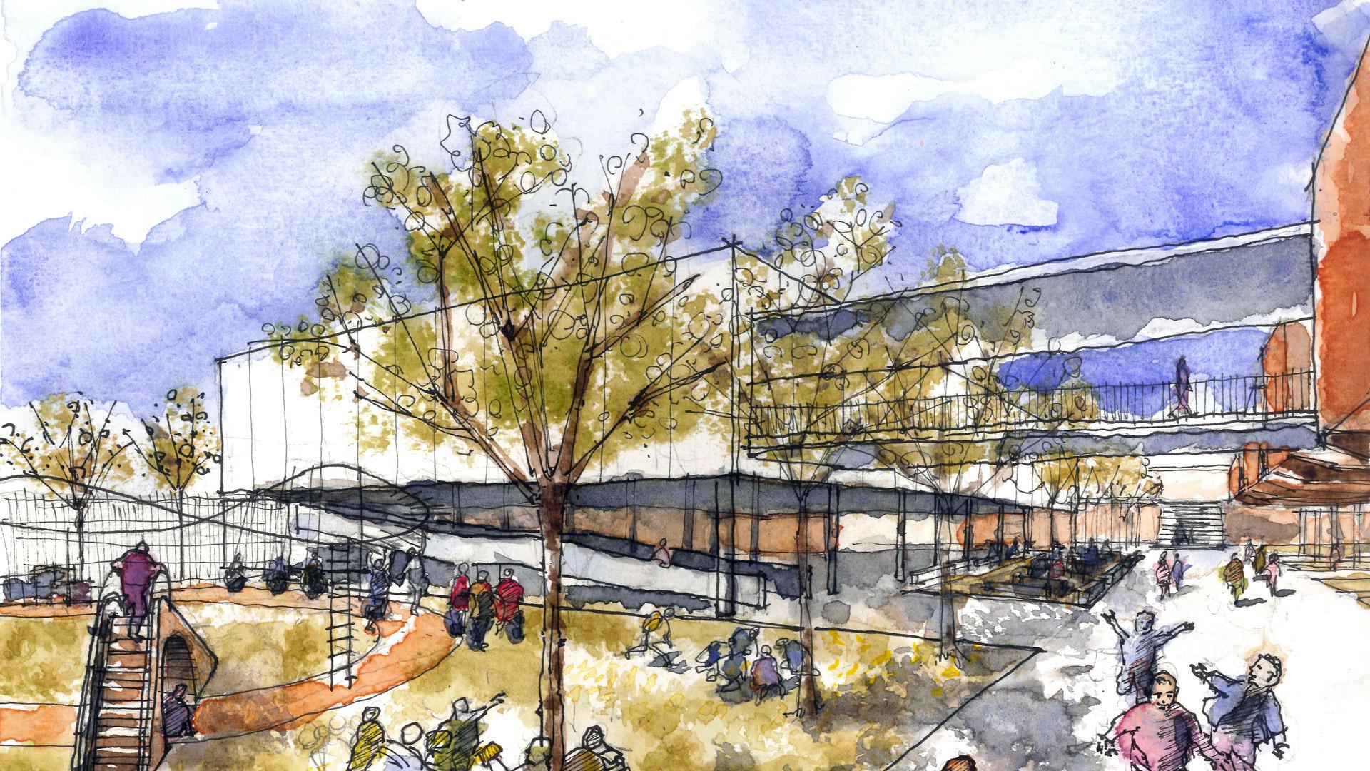 Parquinho Escola Crixá Distrito Federal - YVA Arquitetura