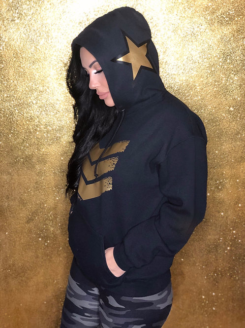 Celebrity Army Custom Gold and Black Hoodie Sweater