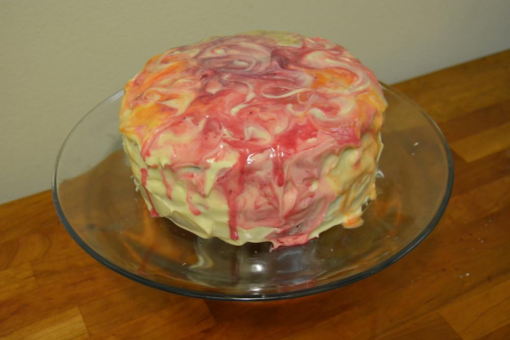 Watercolor carrot cake