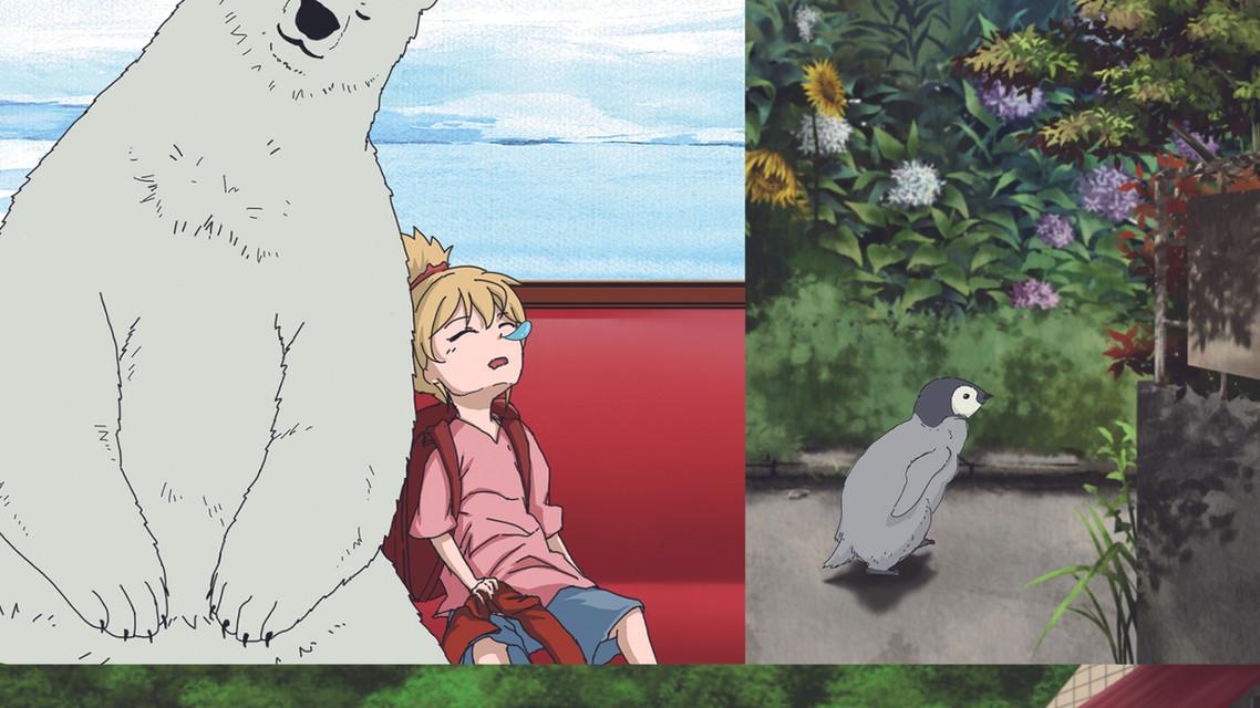 赤いマフラーのペンギン