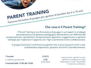 Parent Training e Percorso per bambini