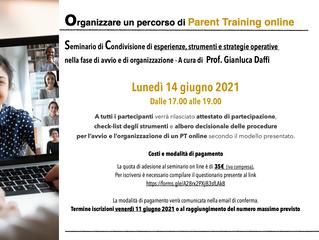 Organizzare un percorso di Parent Training online