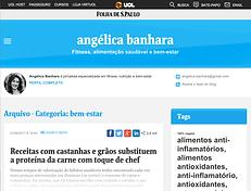 angélica banhara Fitness, alimentação saudável e bem-estar - blog Folha de S.Paulo UOL
