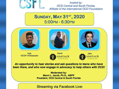 Living with OCD: Teen Discussion and Q&A