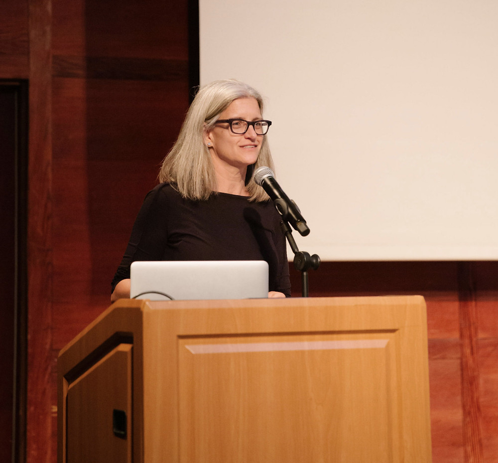 Kelly Anderson, director of UNSTUCK, introduces the films