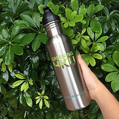 Reusable Bottle with plant background
