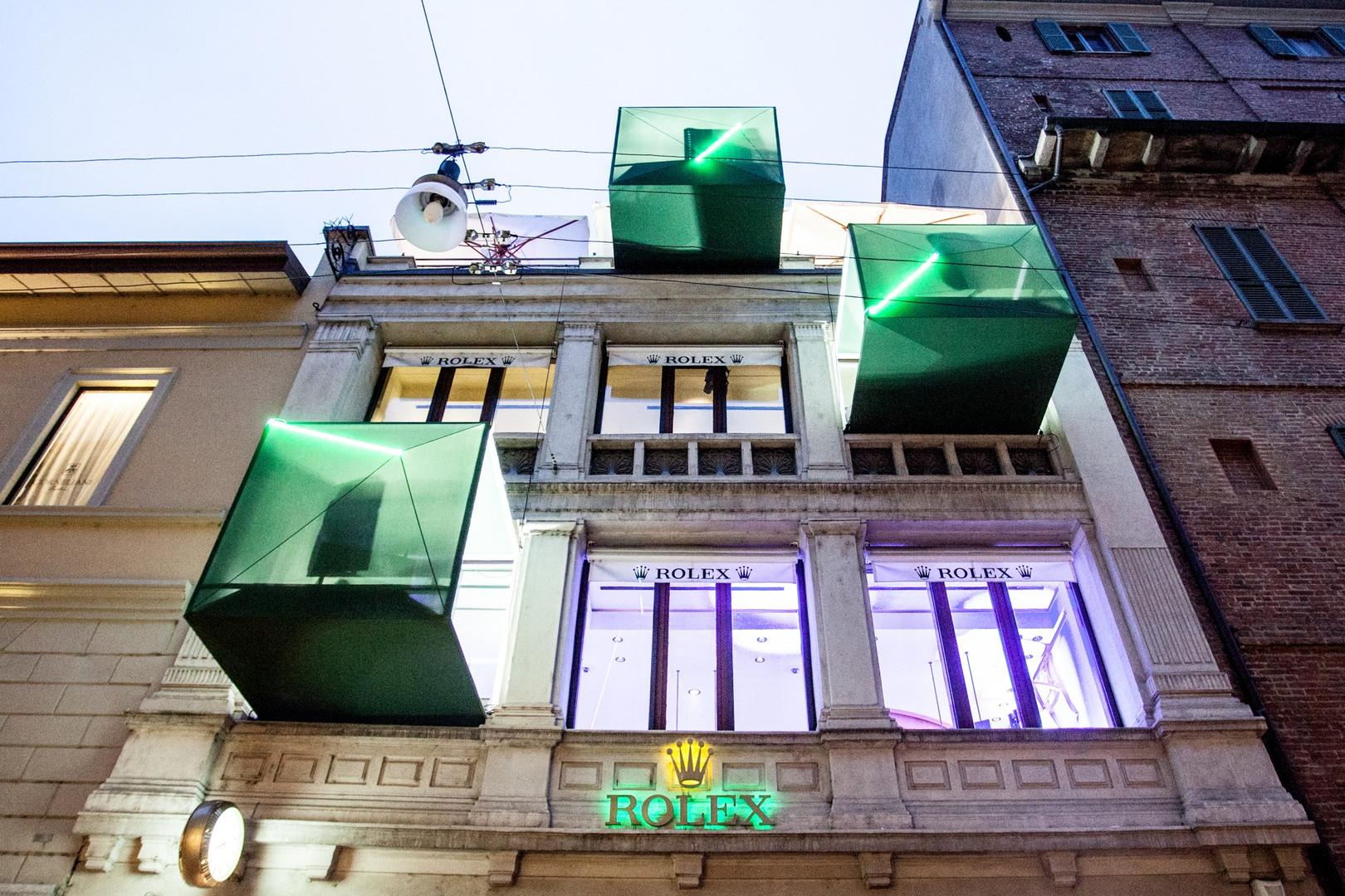 Boutique Rolex, Cube Installation, Milan