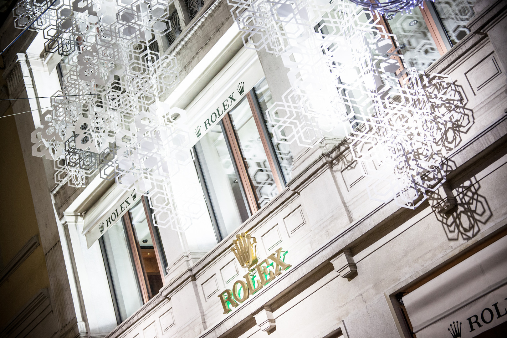 Rolex Boutique Christmas Installations