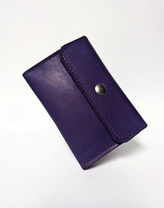 Porte-monnaie compact bicolore bleu et rose
