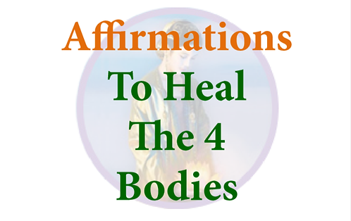 PDF Affirmation Cards to Heal the 4 Bodies