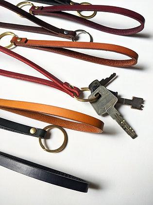 Porte clés dragonne cuir tannage végétal