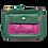Thumbnail: Porte-monnaie zip vert et mauve irisé