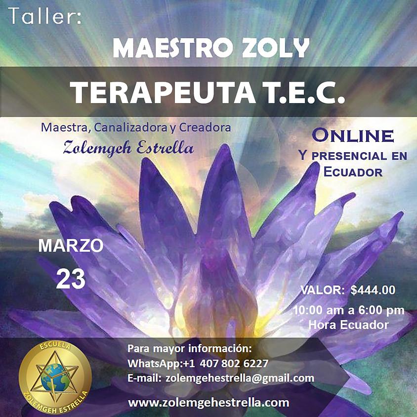 Taller Maestro Zoly Terapeuta Holístico TEC