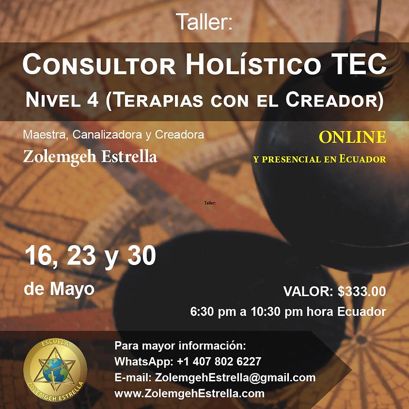 Taller Consultor Holístico T.E.C., paso 4 (Terapias con El Creador)