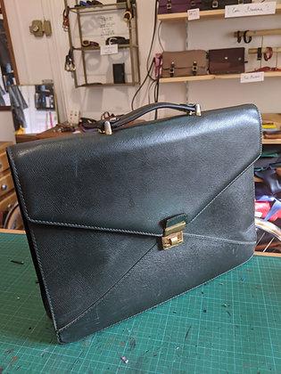 Porte document vintage vert