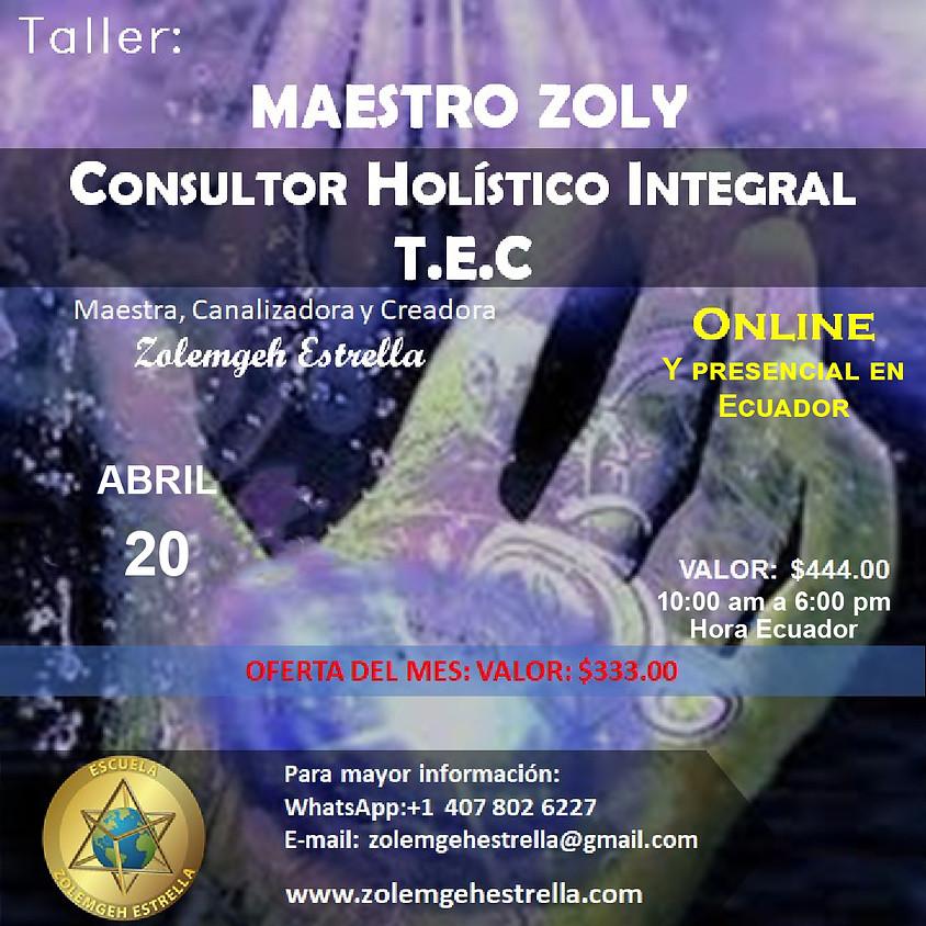 Taller Maestro Zoly Consultor Holístico Integral TEC