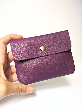 Porte-monnaie carte d'identité à rabat violet