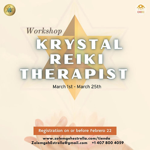 Workshop KRYSTAL Reiki Therapist  | EN LÍNEA