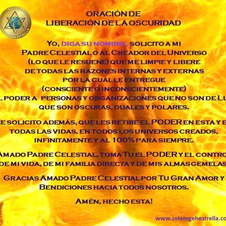 Oración de Liberación de la Oscuridad