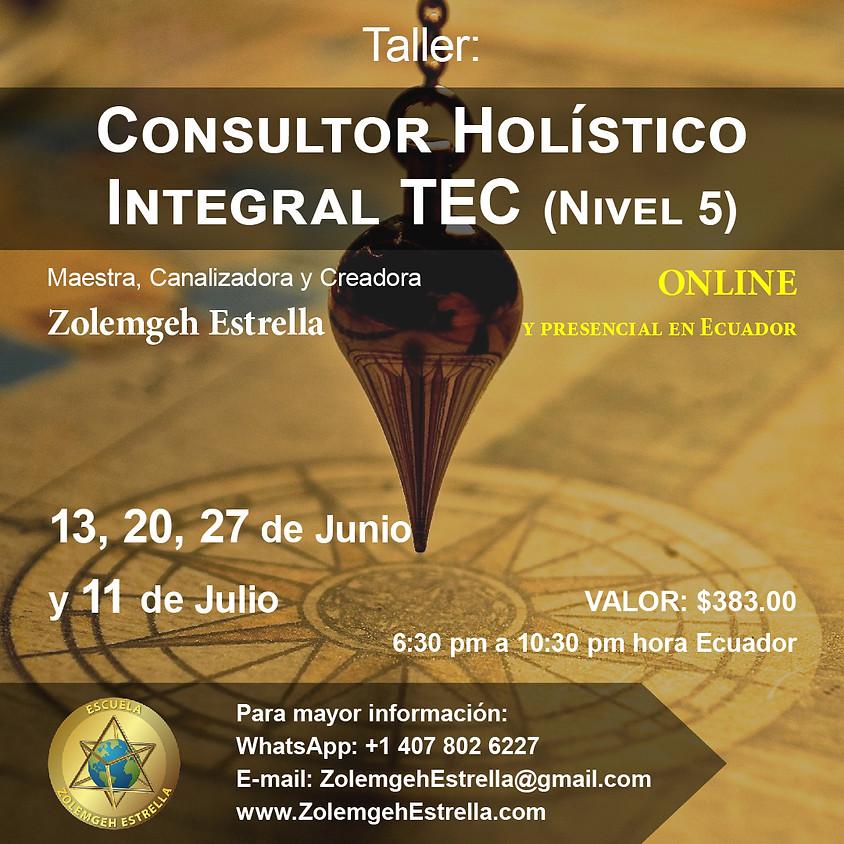 Taller Consultor Holístico Integral T.E.C., paso 5 (Terapias con El Creador)
