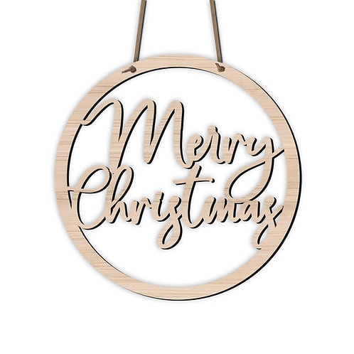 "Schild Circle ""Merry Christmas"""