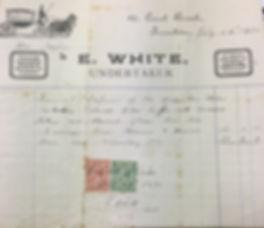 E White Undertaker Invoice 1921