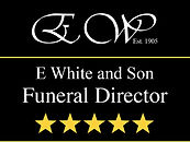 E White and Son Funeral Director Logo
