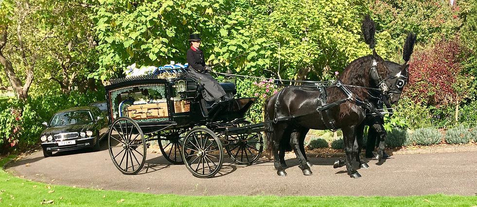 horse drawn funeral taunton