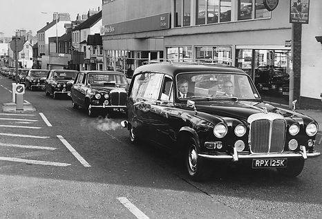 Funeral in East Reach Taunton 1980,s