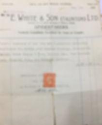 E White Undertaker Invoice 1946